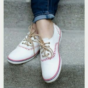 Keds Baseball Champion Style Cute Leather Sneakers